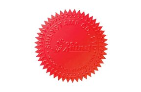 EMBOSSING LABELS D41mm RED